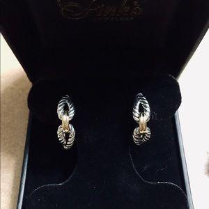 e616fcbc1 David Yurman Jewelry - NEW David Yurman Cable Loop Hoops w/ 18K Gold!